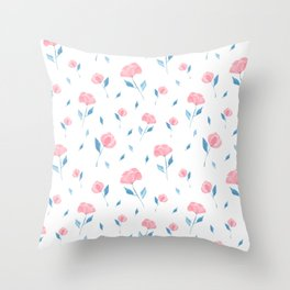 Bloomin' Pinks Throw Pillow