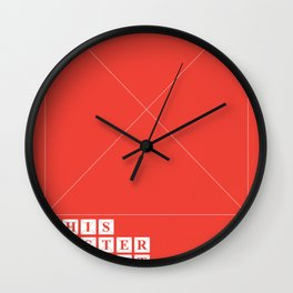 This Poster Is Not Available Wall Clock
