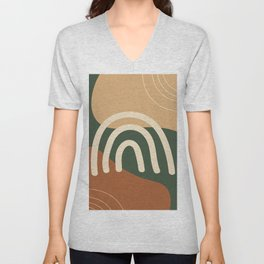Earth colors abstract organic background Unisex V-Neck