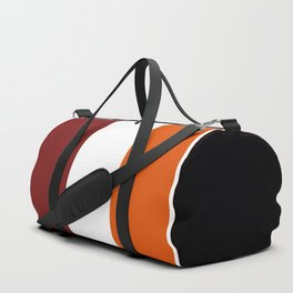 TEAM COLORS 8...Maroon , orange white Duffle Bag