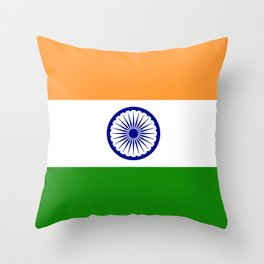 India: Indian Flag Throw Pillow