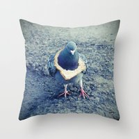 hiphop Throw Pillows featuring HipHop Dove Walk by Sigurdfisk