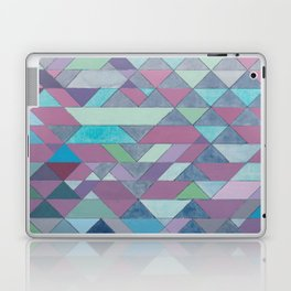 Triangle Pattern no.3 Violet Laptop & iPad Skin