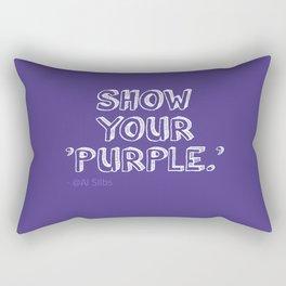 Show Your Purple Rectangular Pillow