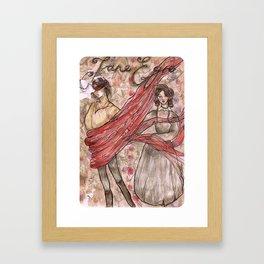 Jane Eyre. An Autobiography Framed Art Print