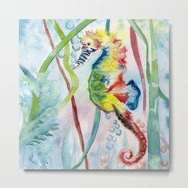 Colorful Seahorse Metal Print