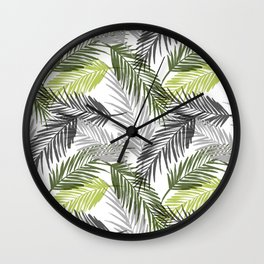 Palm tree leaf Wall Clock