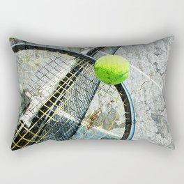 Modern tennis ball and racket 7 Rectangular Pillow