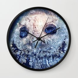 Space Owl Wall Clock