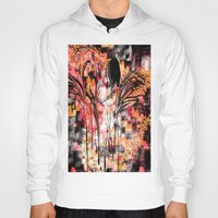 angels Hoodies featuring Visiting Angels by Jessielee