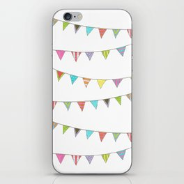 colorful hand drawn bunting iPhone Skin