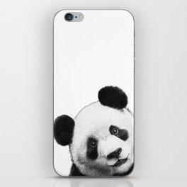 peekaboo panda iPhone Skin