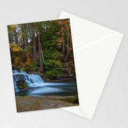 waterfall autumn forest lake Millstone Creek Bowen Park Nanaimo British Columbia Canada Stationery Cards