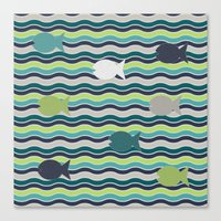 under the sea Canvas Prints featuring Under The Sea by LLL Creations