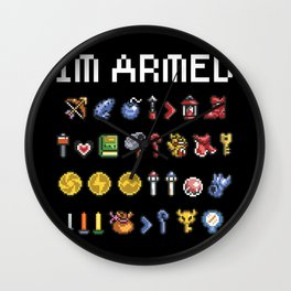 """The Legend of Zelda - Weapons / Items - """"I'm Armed"""" Wall Clock"""