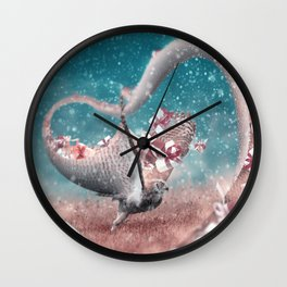 Christmas Delivery - Julien Tabet - Photoshop Artwork Wall Clock