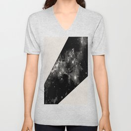 Expanding Universe - Abstract, black and white space themed design Unisex V-Neck