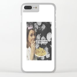 Queen Pompeo Clear iPhone Case