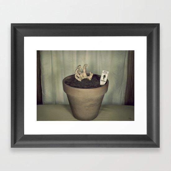 Zombie Plant Framed Art Print