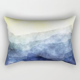 Sun behind the mountains - Modern abstract triangle Dreamscape Rectangular Pillow