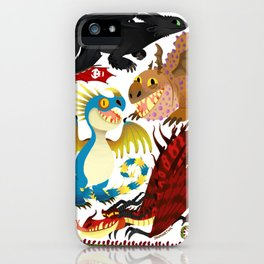 HTTYD- Dragons/Toothless and gang iPhone Case