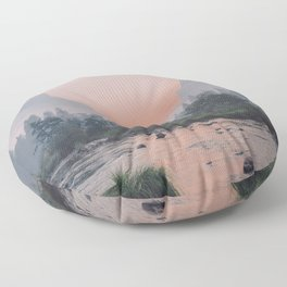 Yosemite Valley Sunrise Pretty Pink Floor Pillow