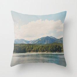in the shadow of the Alps Garmisch photograph Throw Pillow