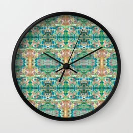 watercolor collage pattern Wall Clock