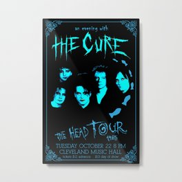 The Cure 1985 Concert Poster, The Cure poster, Wall Art Decor Metal Print