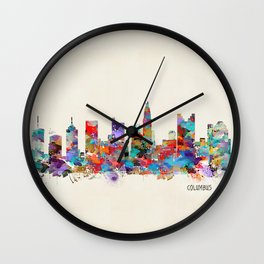 Columbus Ohio skyline Wall Clock