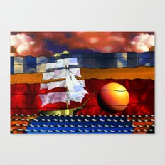 Doodlage 04 - Lets sail away Canvas Print