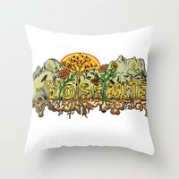 yosemite Throw Pillows featuring Yosemite  by Geryes