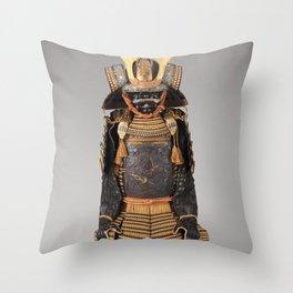 Historical Samurai Armor Photograph (17th-18th Century) Throw Pillow