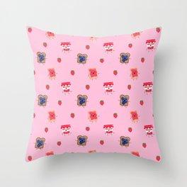 Breakfast Is Jammin' pattern Throw Pillow