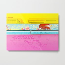 Graffiti Beach Metal Print