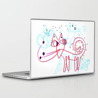 kittens Laptop & iPad Skins featuring SNOW KITTENS by Vanja Cankovic