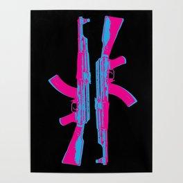 Neon AK-47 Poster