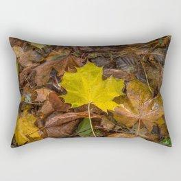 Yellow Maple Leaf Rectangular Pillow