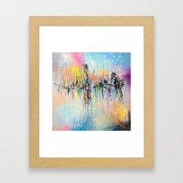 ON THE PIER Framed Art Print