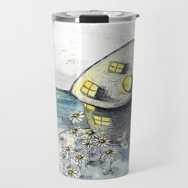 Mouse House in the Moonlight Travel Mug