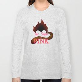 Real Saiyans Wear Pink Long Sleeve T-shirt