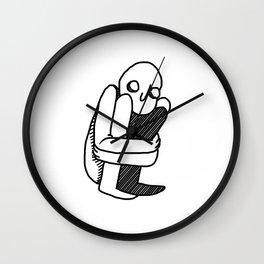 fetal position Wall Clock