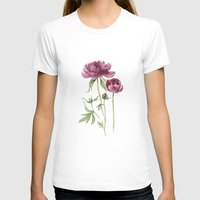 peony T-shirts featuring peony by Dao Linh