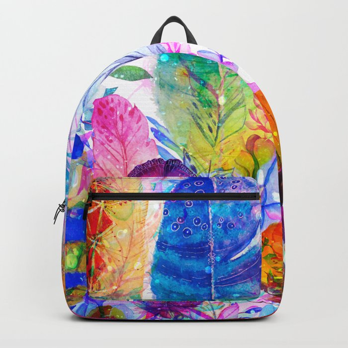 spring feathers Backpack