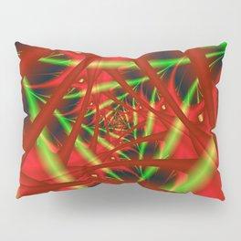 Red and Green Filament Spiral Pillow Sham