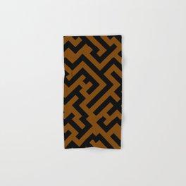 Black and Chocolate Brown Diagonal Labyrinth Hand & Bath Towel
