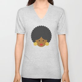 an afro american woman Unisex V-Neck