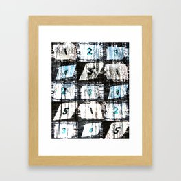 Numbers Framed Art Print