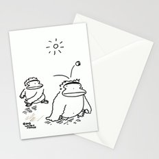 Ape Thumps Ape with Coin Stationery Cards