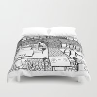 stockholm Duvet Covers featuring Stockholm by intermittentdreamscapes